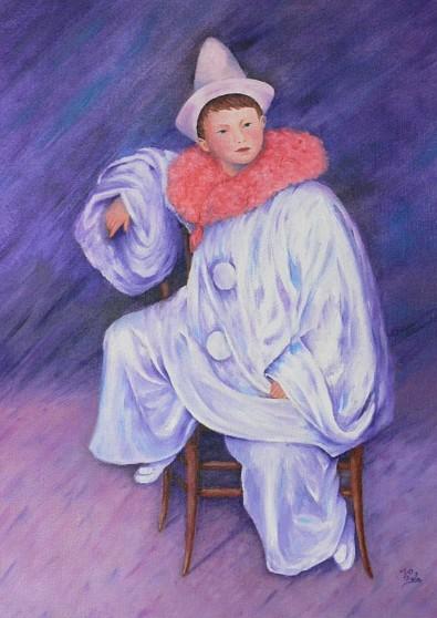 «PIERROT» d'après Auguste RENOIR
